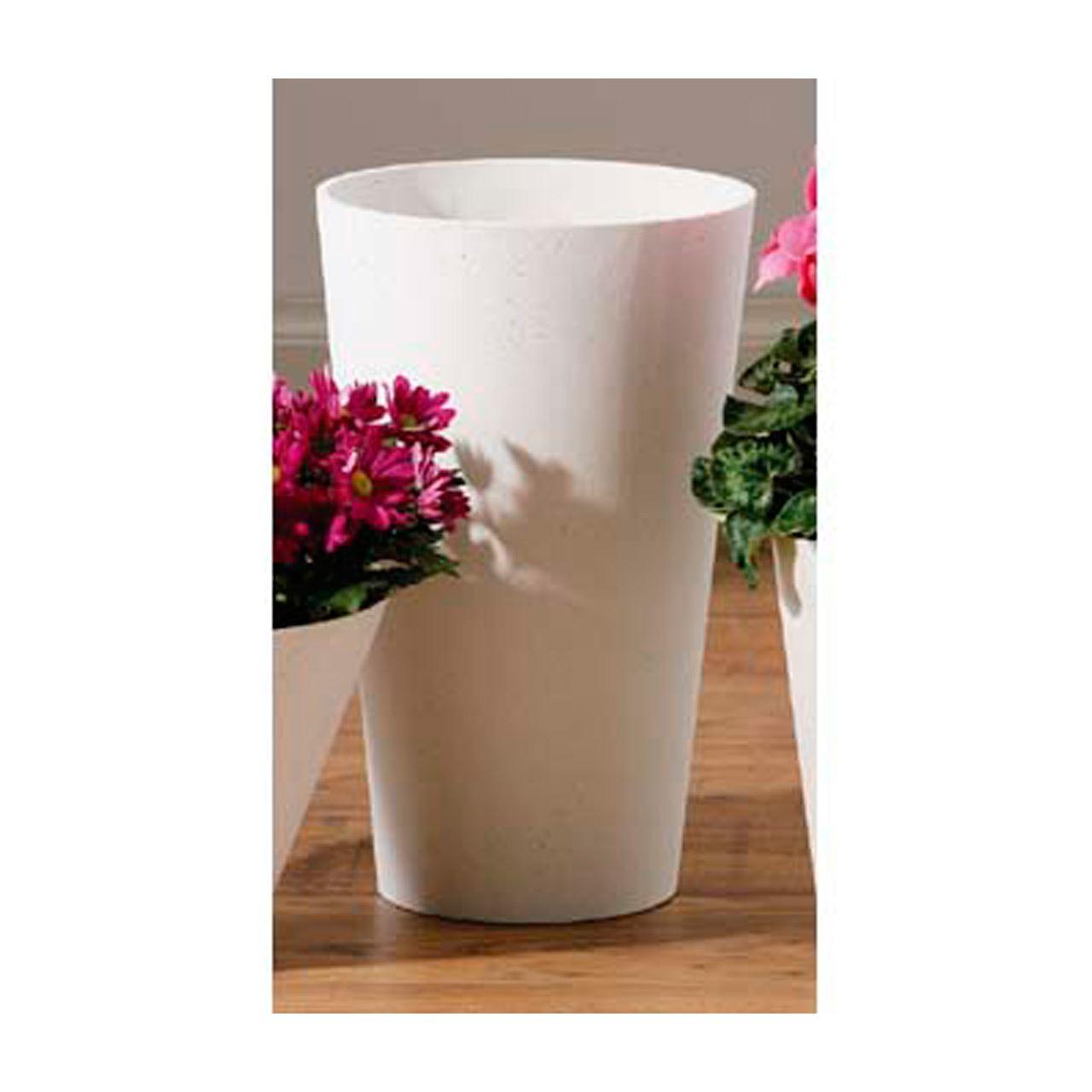 Vase,White Polyresin,Large