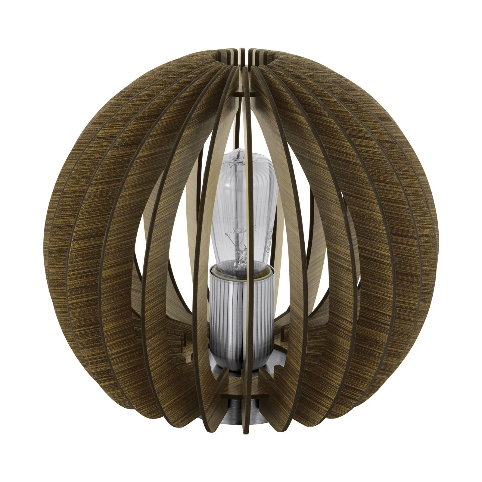 Cossano Table Lamp 1 Light E27 Dark Brown