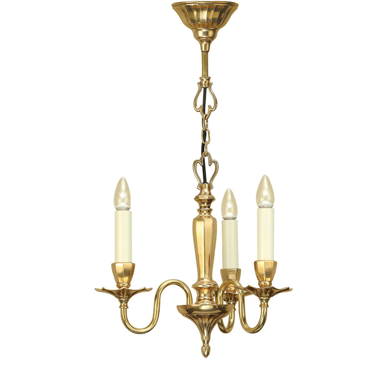 Asquith 3Lt Solid Brass Pendant Light 40W Perfect For Indoor Lighting Decor