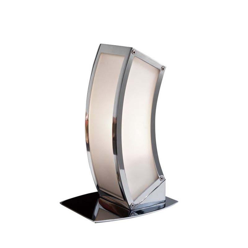 Decorative 1 Light Polished Chrome Table Lamp
