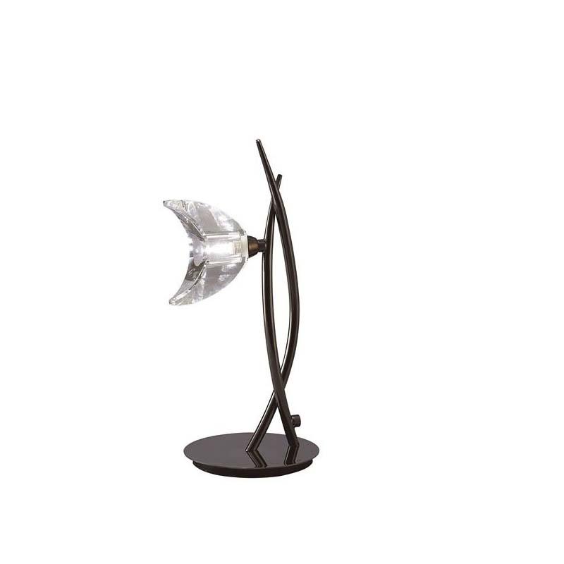 Stylish Black 1 Light Table Lamp Chrome Finish - Energy Saving