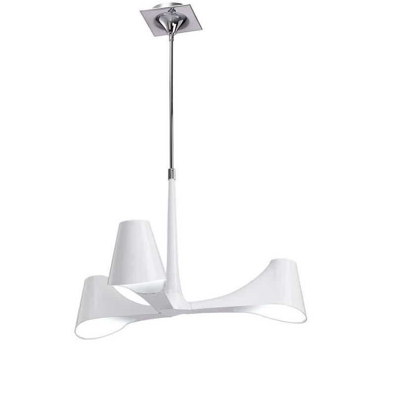 Ora Pendant/Semi Ceiling 3 Light Polished Chrome/White