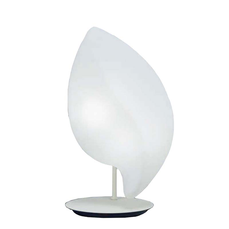 Natura Small Matt White Opal 2 Light Table Lamp