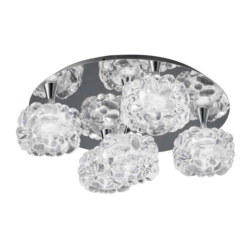 Mantra M3924 O2 Ceiling 5 Light G9, Polished Chrome