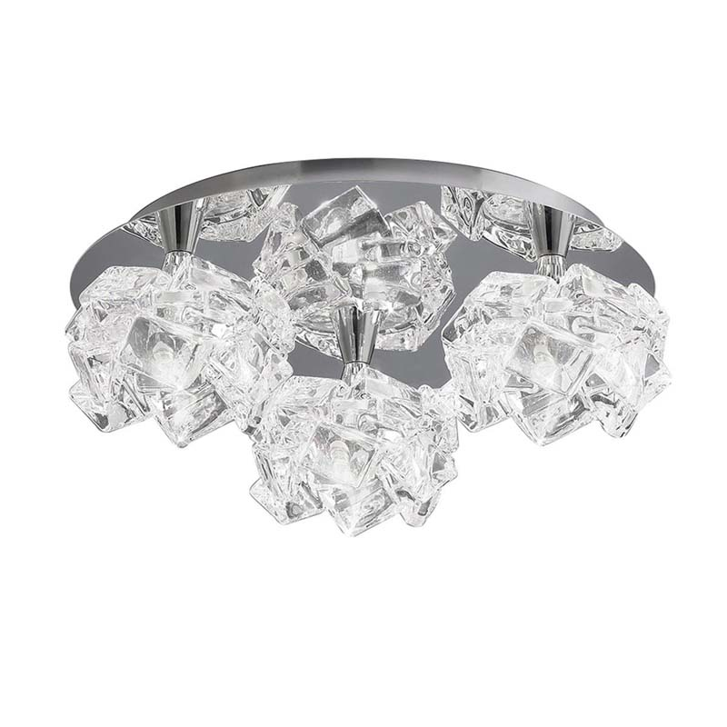 Mantra M3955 Artic Ceiling 3 Light G9 Round Small, Polished Chrome
