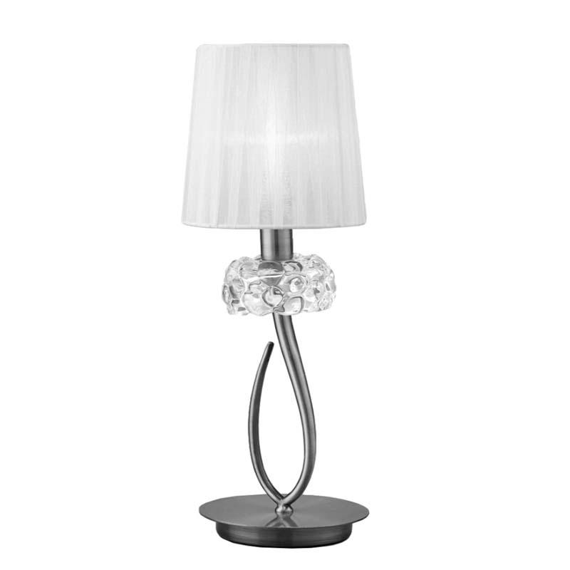 Loewe 1 Light Polished Chrome Table Lamp With Cream Shade