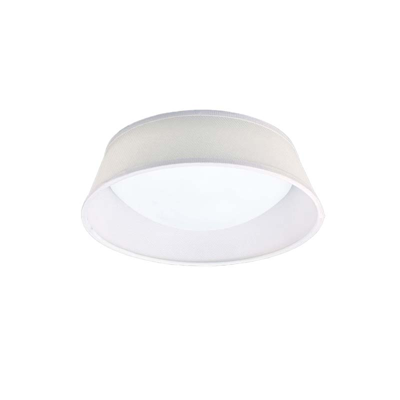 Nordica Ceiling 12W LED 32CM Off White, White Acrylic With Ivory White Shade