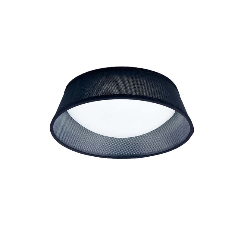 Nordica Ceiling 12W LED 32CM Black 3000K, 120lm, White Acrylic With Black Shade