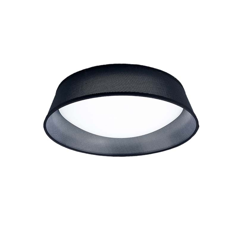 Nordica Ceiling 21W LED 45CM Black 3000K, 2100lm, White Acrylic With Black Shade