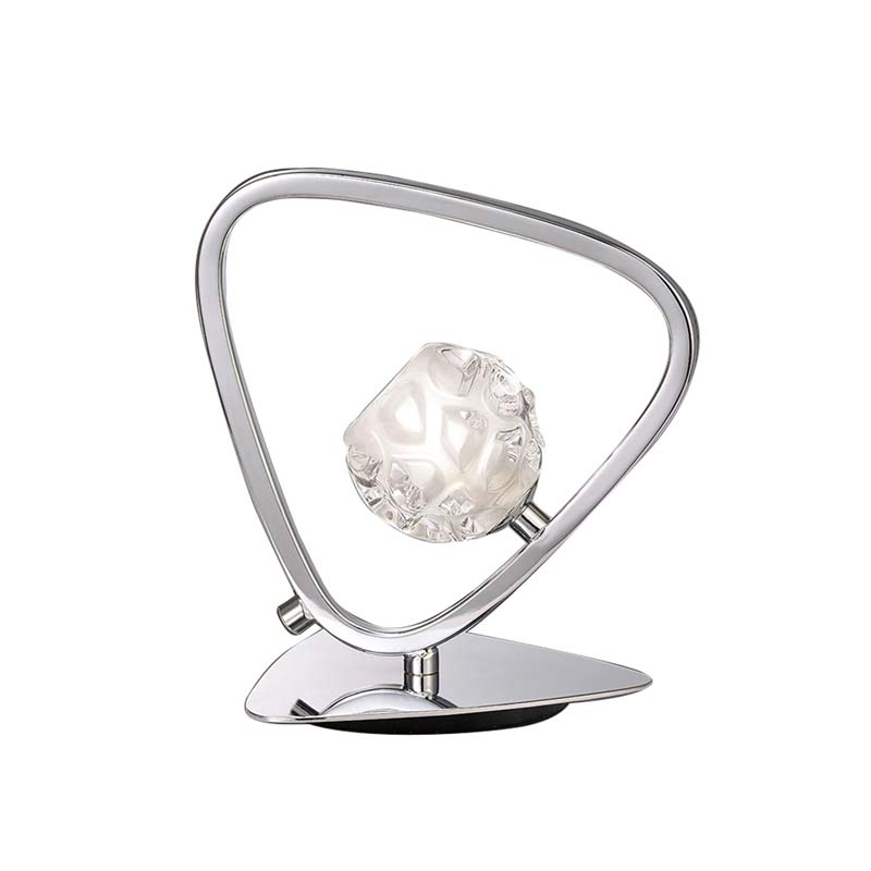 Lux Polished Chrome 1 Light Table Lamp