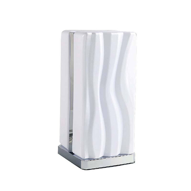 Arena Polished Chrome & White Acrylic LED Table Lamp