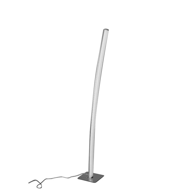 Surf Floor Lamp 23W LED Satin Nickel/Polished Chrome 3000K, 1590lm,
