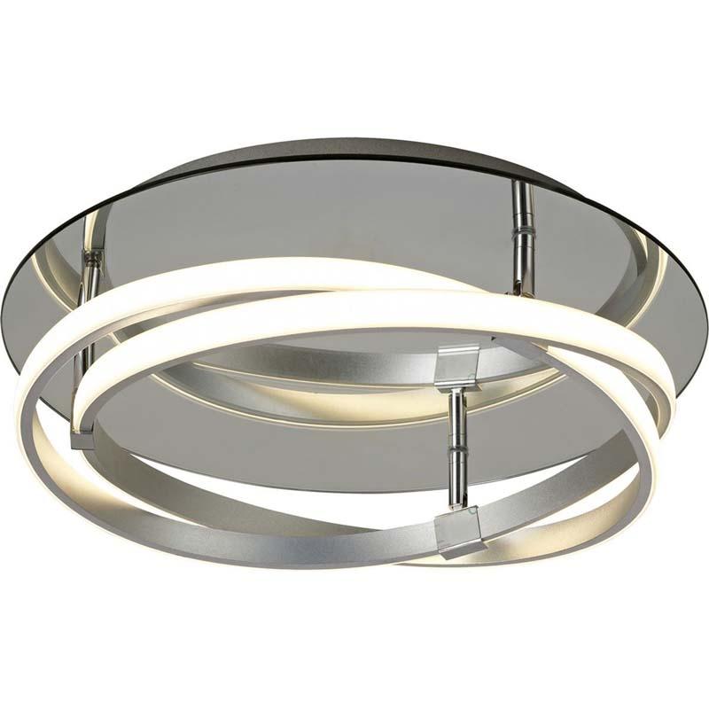 Infinity Flush 30W LED, Silver/Polished Chrome/White Acrylic
