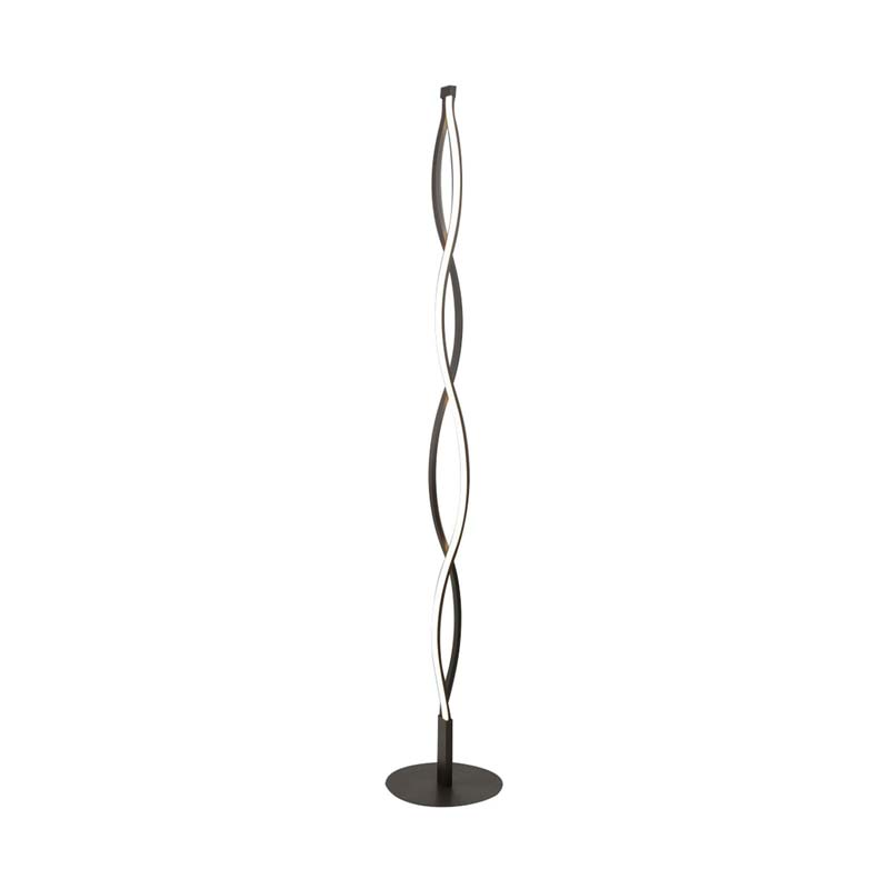 Sahara Brown Oxide Floor Lamp 21W LED 2800K,Dimmable Brown Oxide/White Acrylic