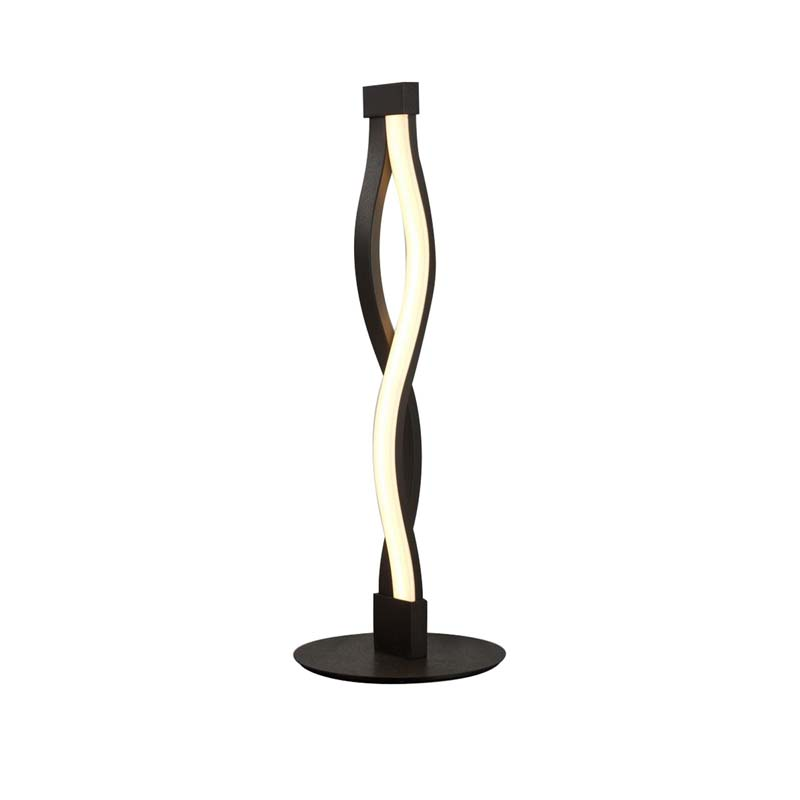 Sahara Brown Oxide Table Lamp & White Acrylic