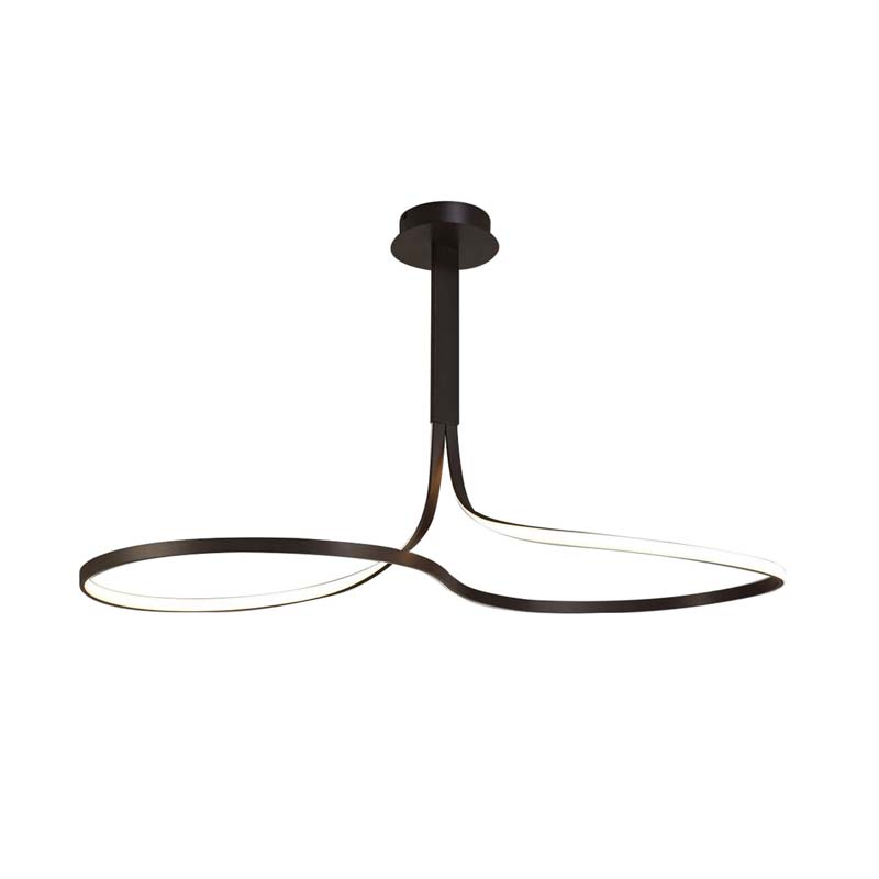 Nur BR XL Semi Ceiling 50W LED 2800K, Dimmable Frosted Acrylic/Brown Oxide