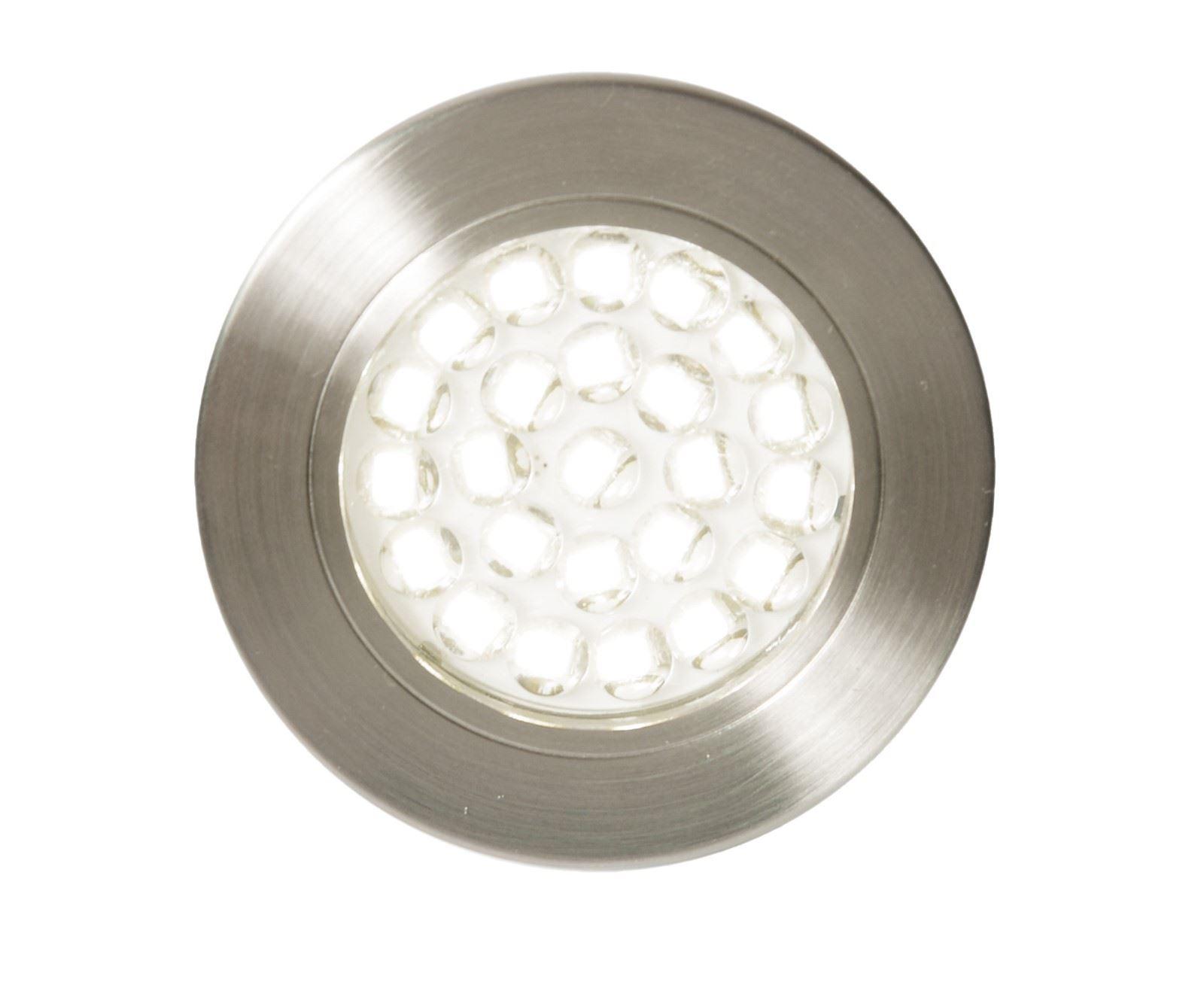 Pozza Led, Mains Voltage, Circular Cabinet Light, 3000K Warm White