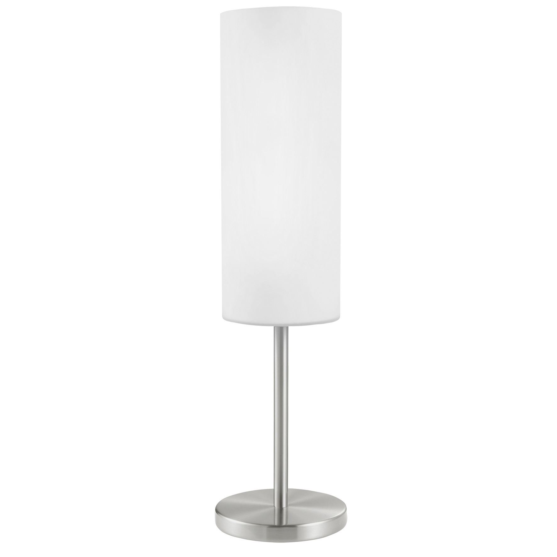 Troy 3 Modern Table Lamp 1 Light Coated White Glass Shade