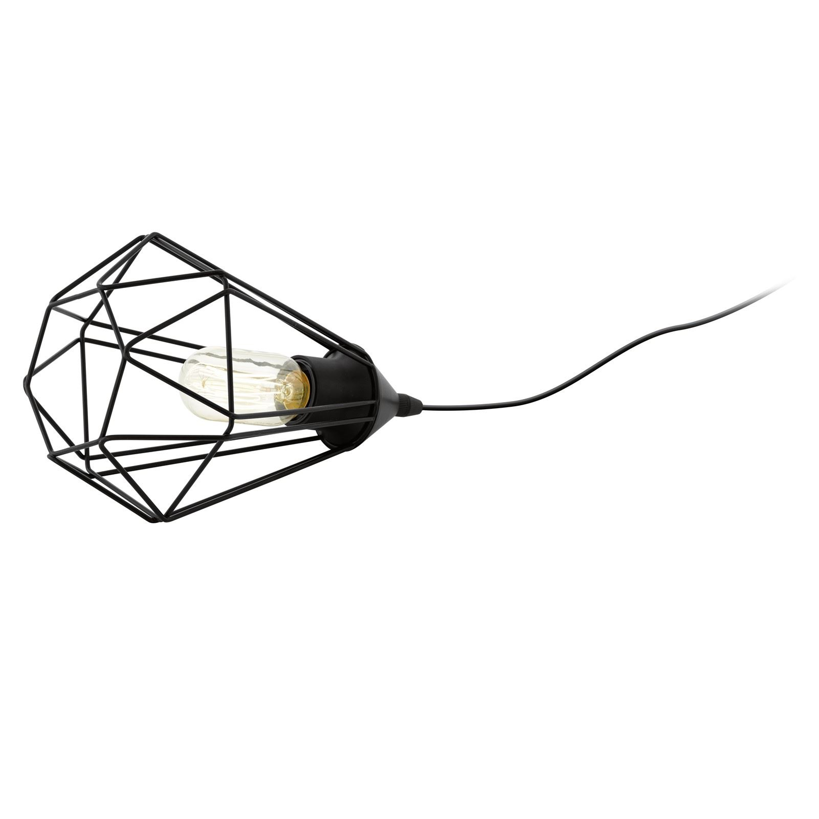 Table Lamp Light Tarbes E27 With Cable Switch Matt Black