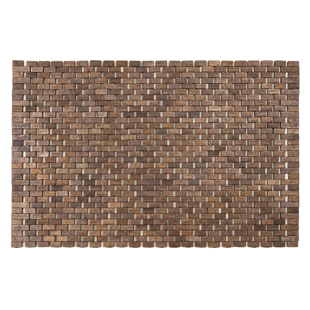 Indoor Doormat/Bath Mat,Grey Rubberwood