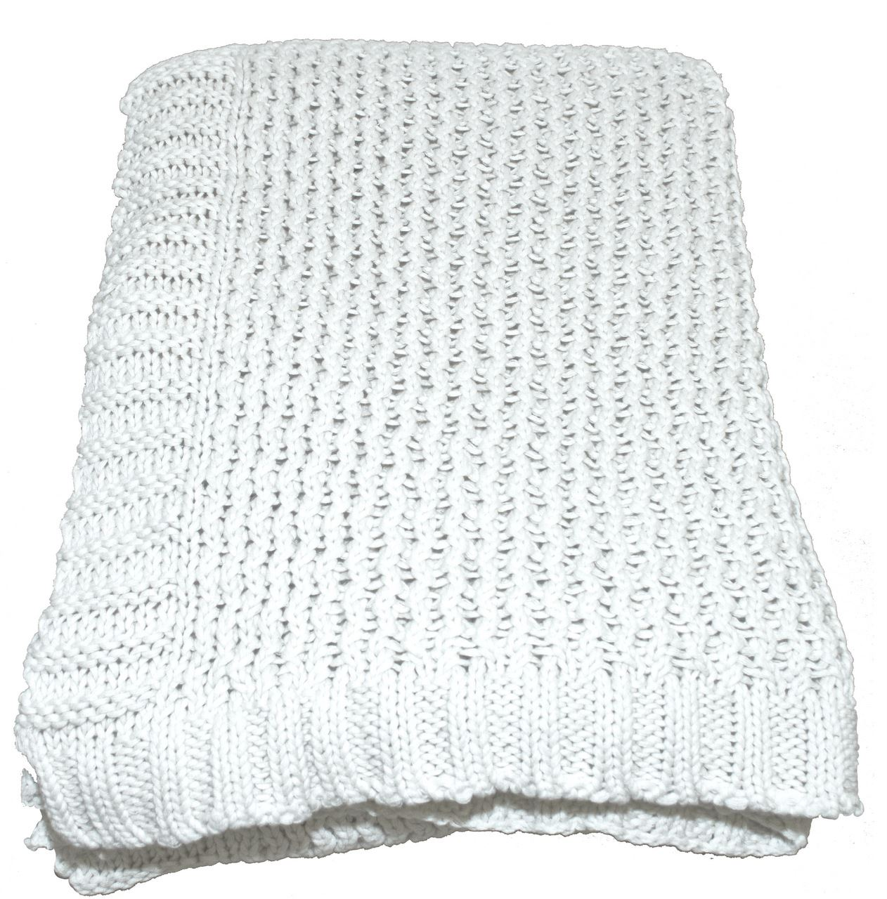 Natural Tinke Stitch Throw