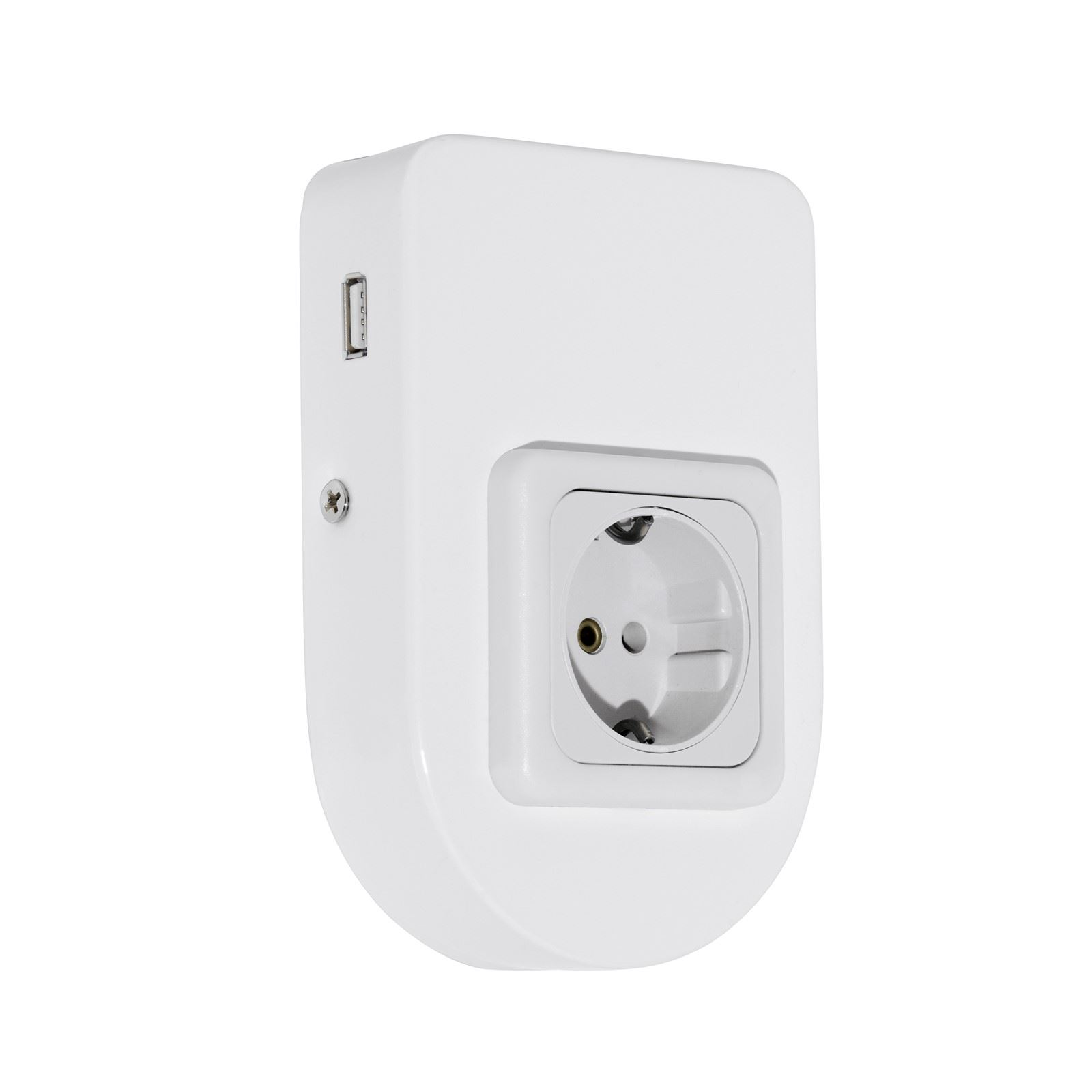 Taxano Lighting Accessory Outlet Socket Usb Round Steel White