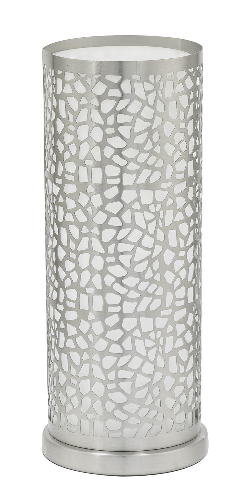 Almera Table Lamp 1 Light E27 Coated White Glass Shade