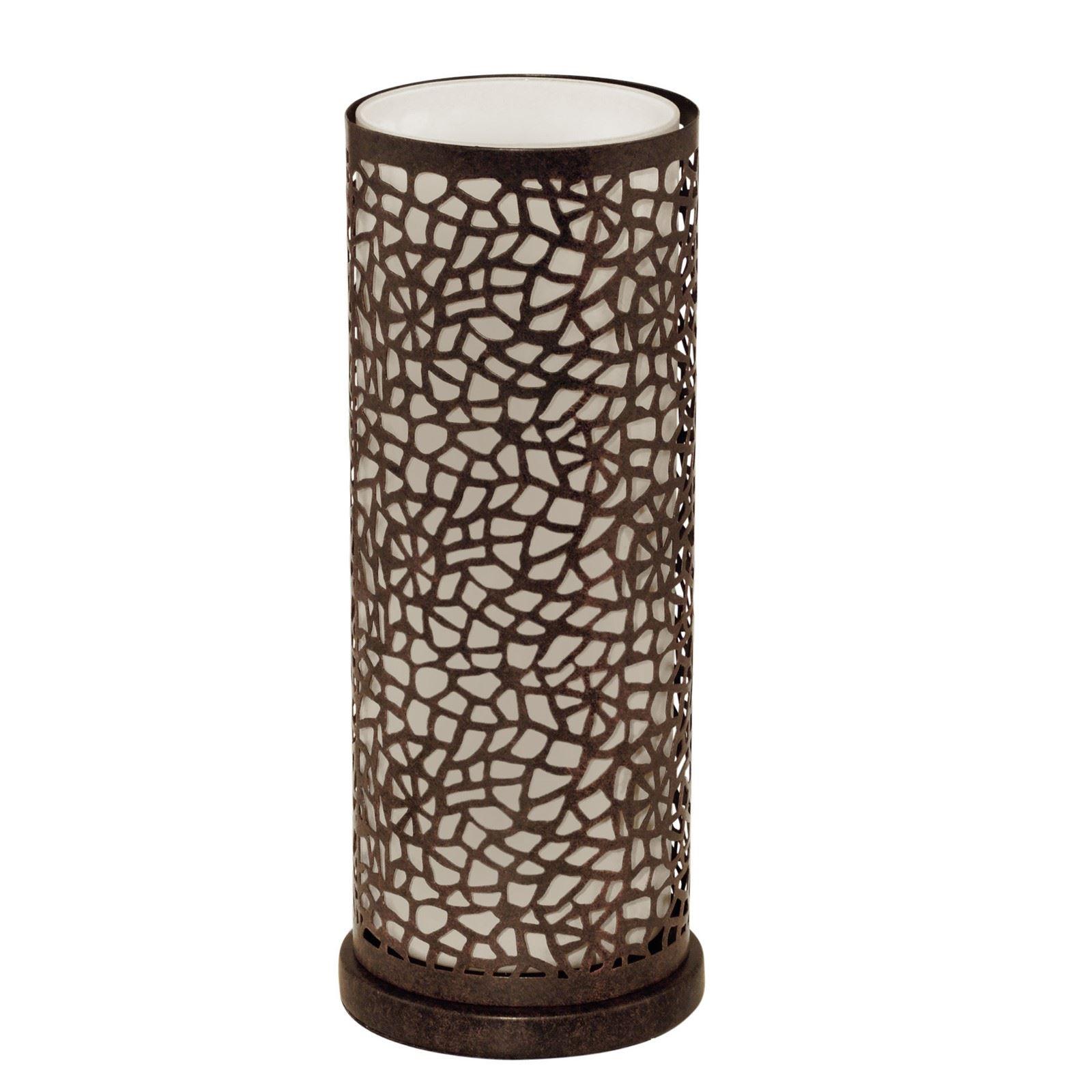 Almera Modern Table Lamp 1 Light E27 Antique Brown Champagne