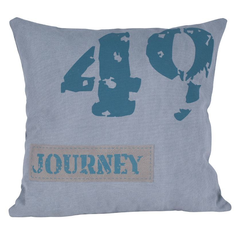 Grey & Navy Fabric Journey Design Square Scatter