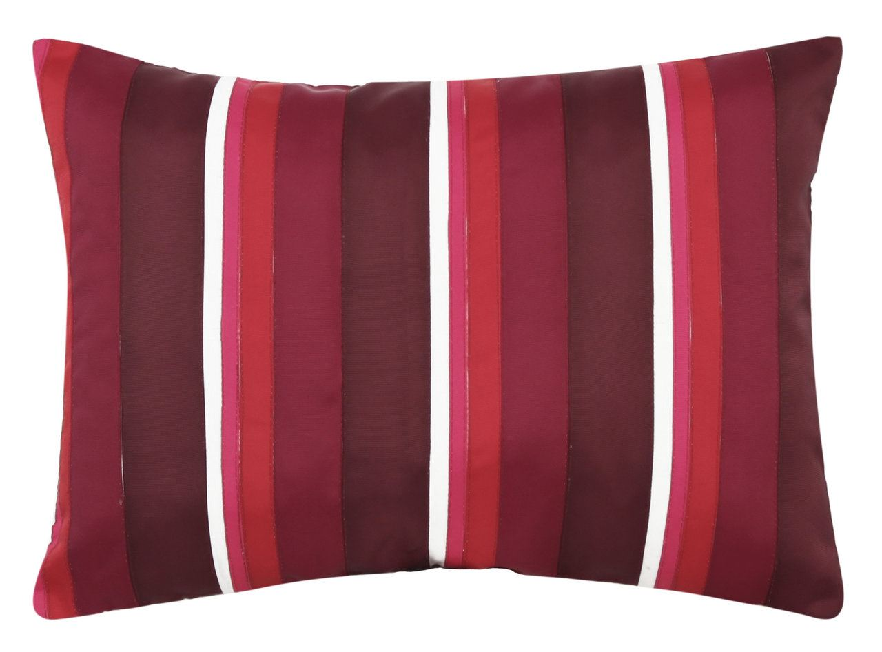Red Striped Long Cushion Modern Style Home Decor