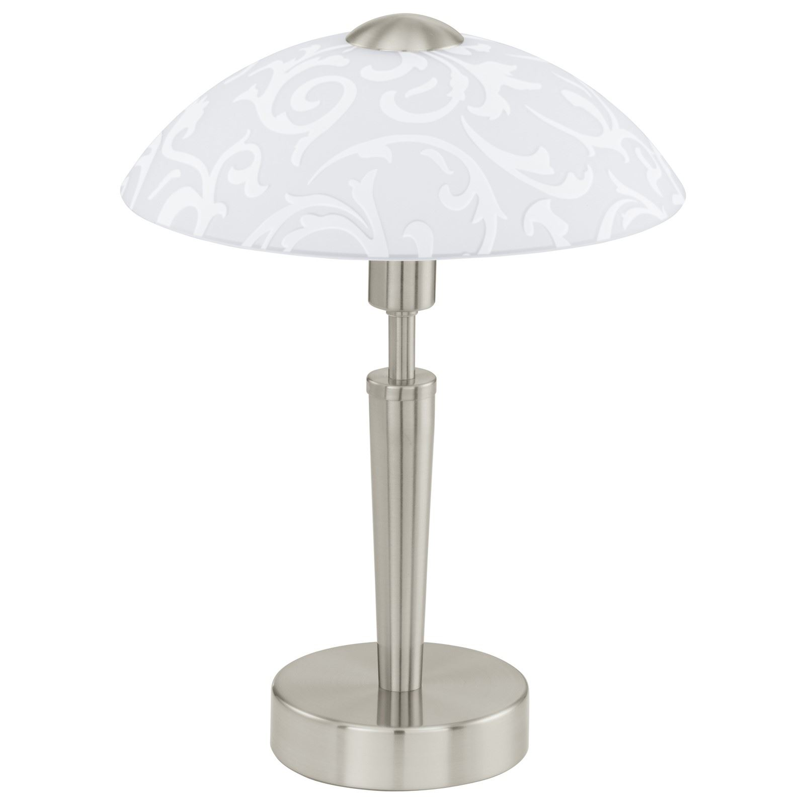 Solo Table Lamp 1 Light Touchdimmer Decorative White Shade