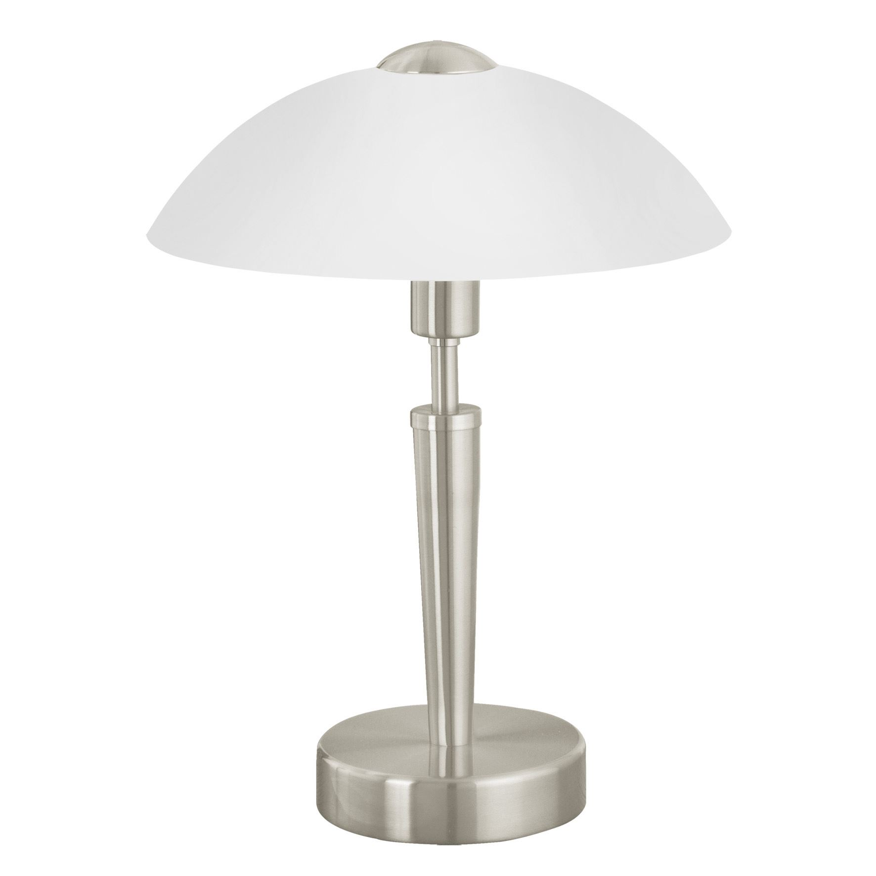 Solo Modern 1 Steel Table Lamp 1 Light Glass White Shade