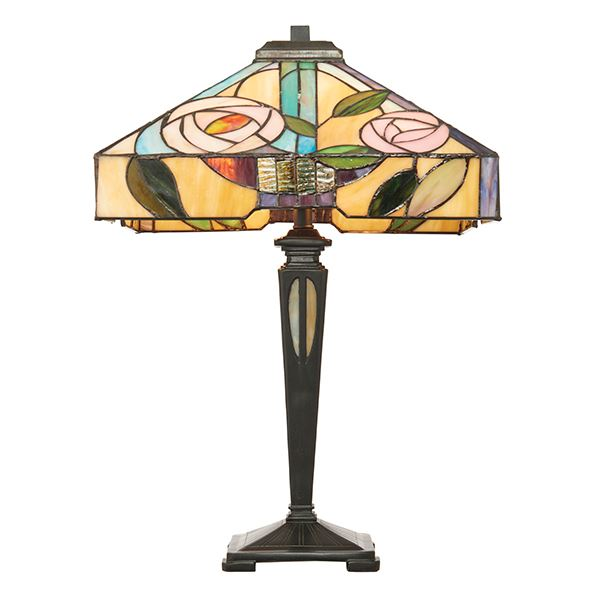 Willow Tiffany Style Table Lamp 40W - Interiors