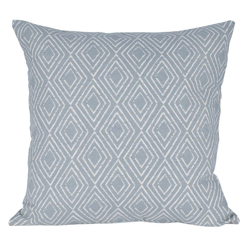 Cool Grey & Ivory Fabric Geo Design Square Scatter