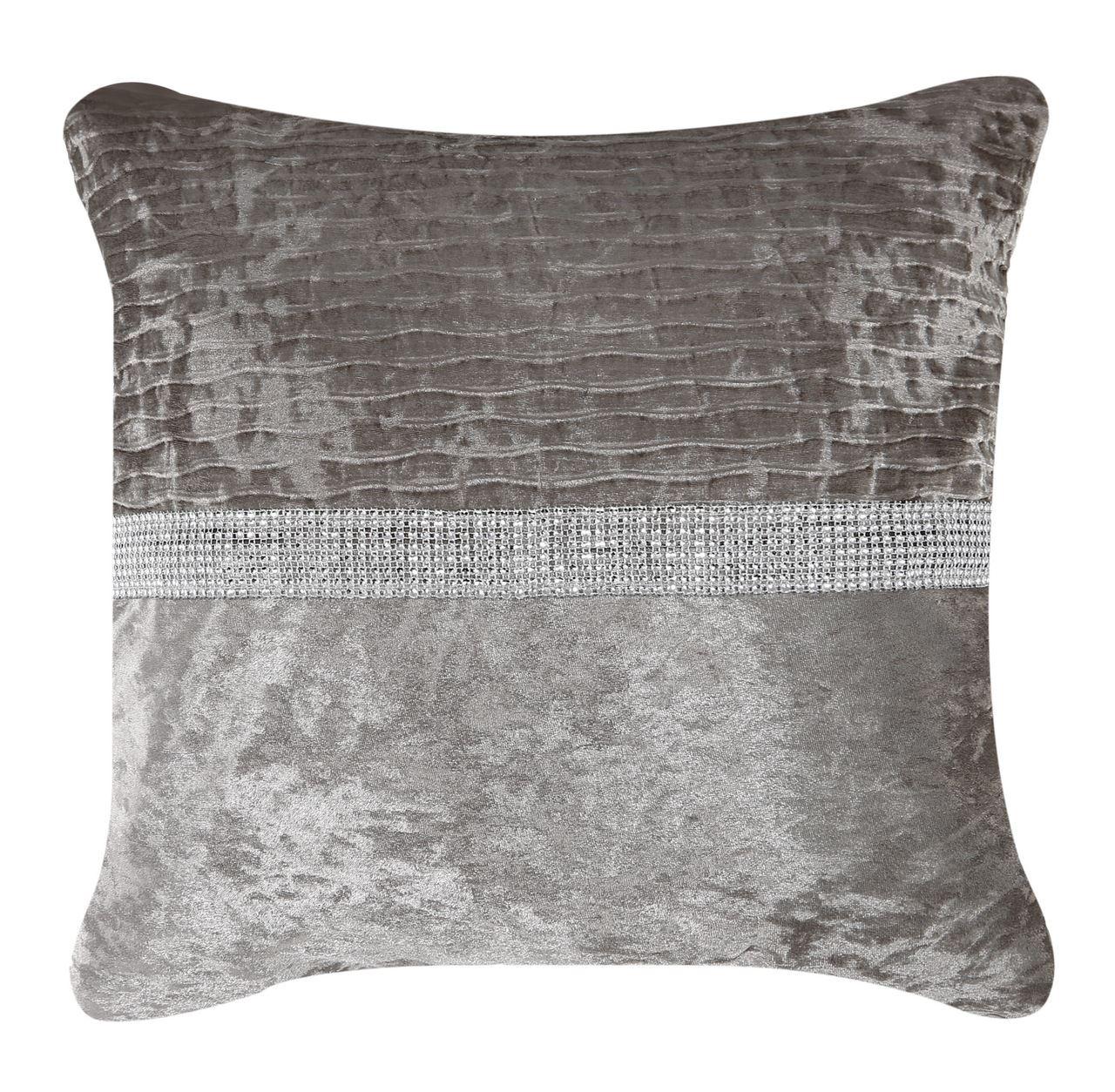 Fld Cushion Chapagne 50X50 Crushed Velv Cushion