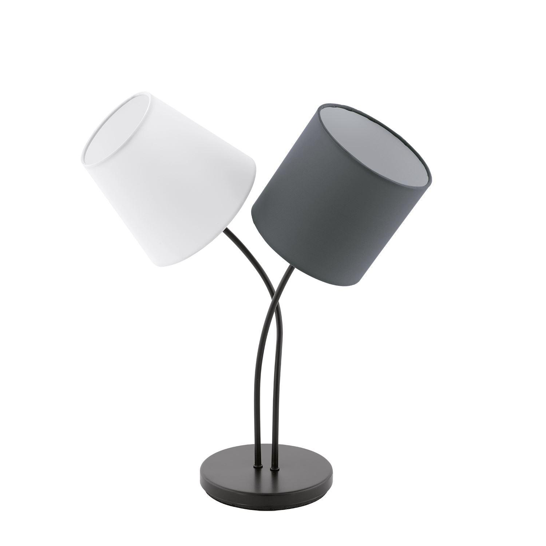 Almeida Table Lamp 2 Light Black White Anthracite