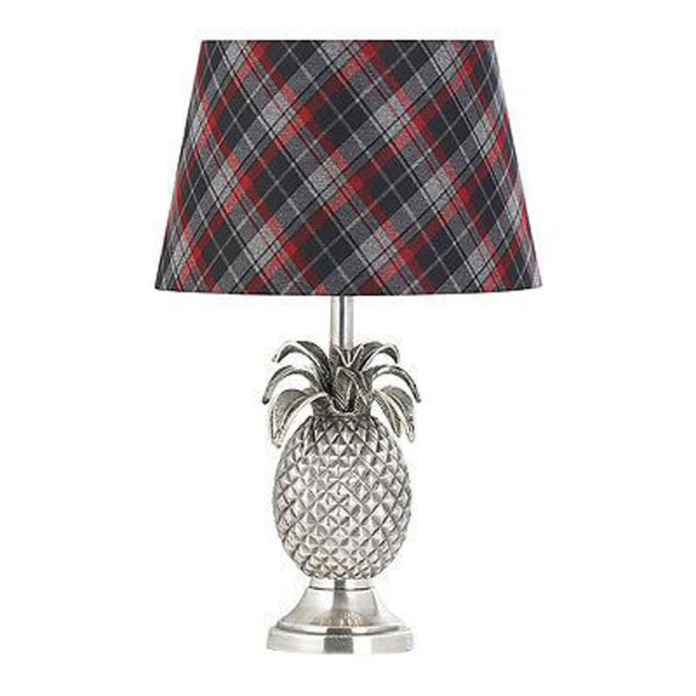 Pineapple Table Lamp (Base Only) Pewter Effect Finish Plate