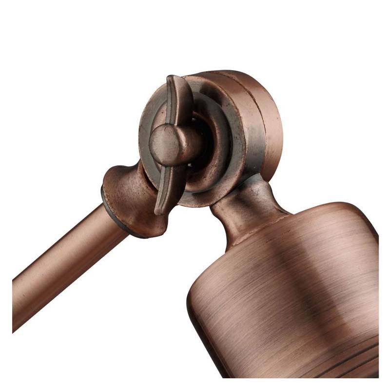 Macbeth Industrial Adjustable Table Lamp, Antique Copper