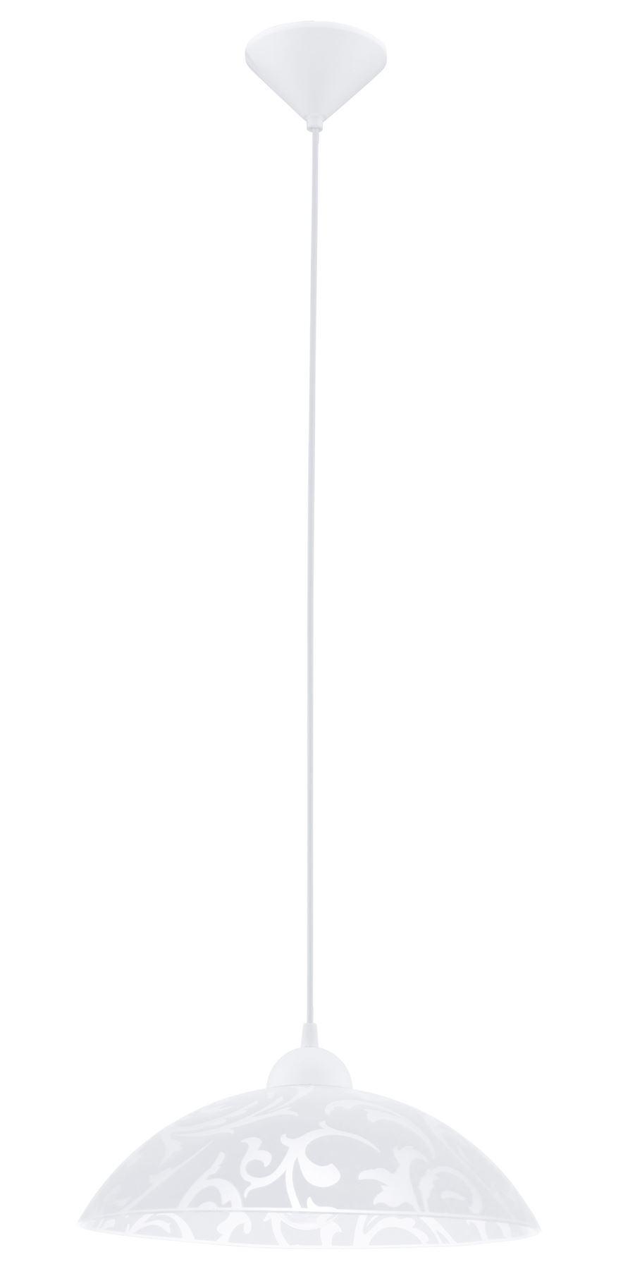 Vetro Modern 1 Hanging Light Decorative Shade - White