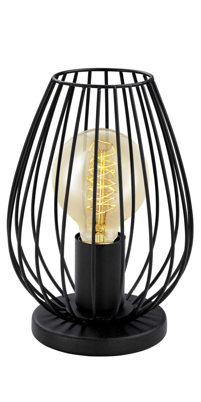 Newtown Steel Table Lamp 1 Light E27 Black