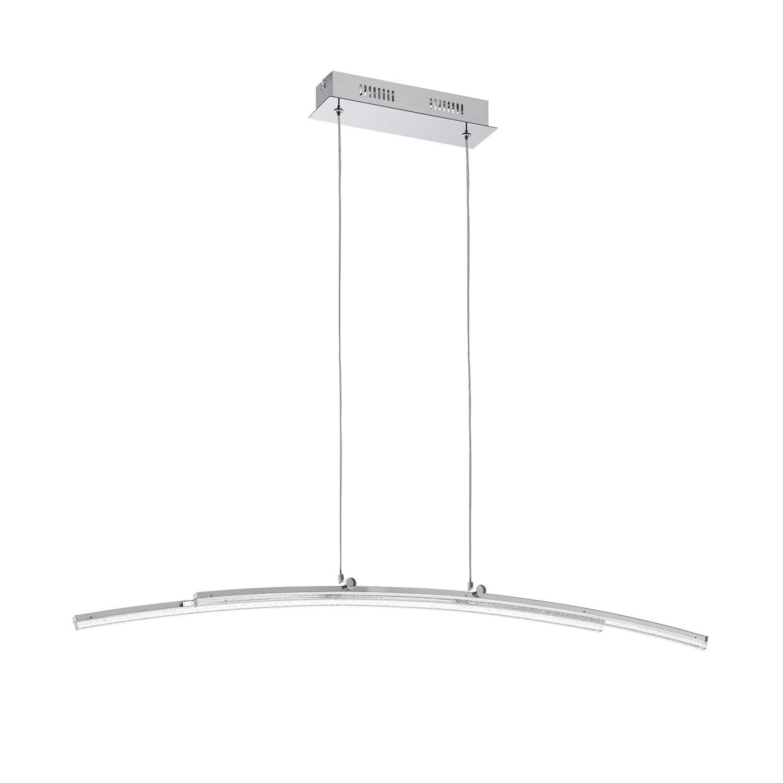 Pertini Led Hanging Light Steel Aluminium Chrome Transparent