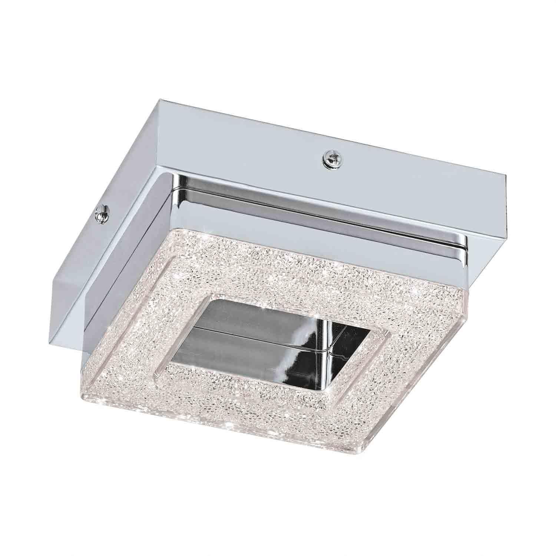 FRADELO LED Steel Wall 1 Ceiling Light Chrome Crystal