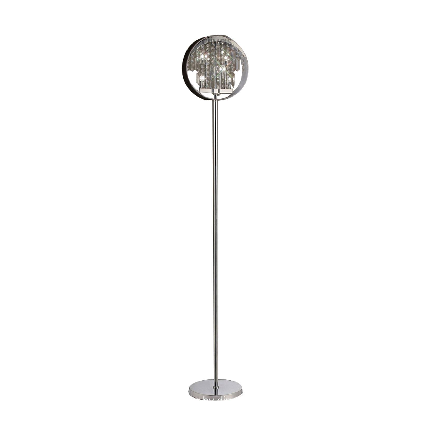 Floor Lamp With Black Shade 9 Light Crystal