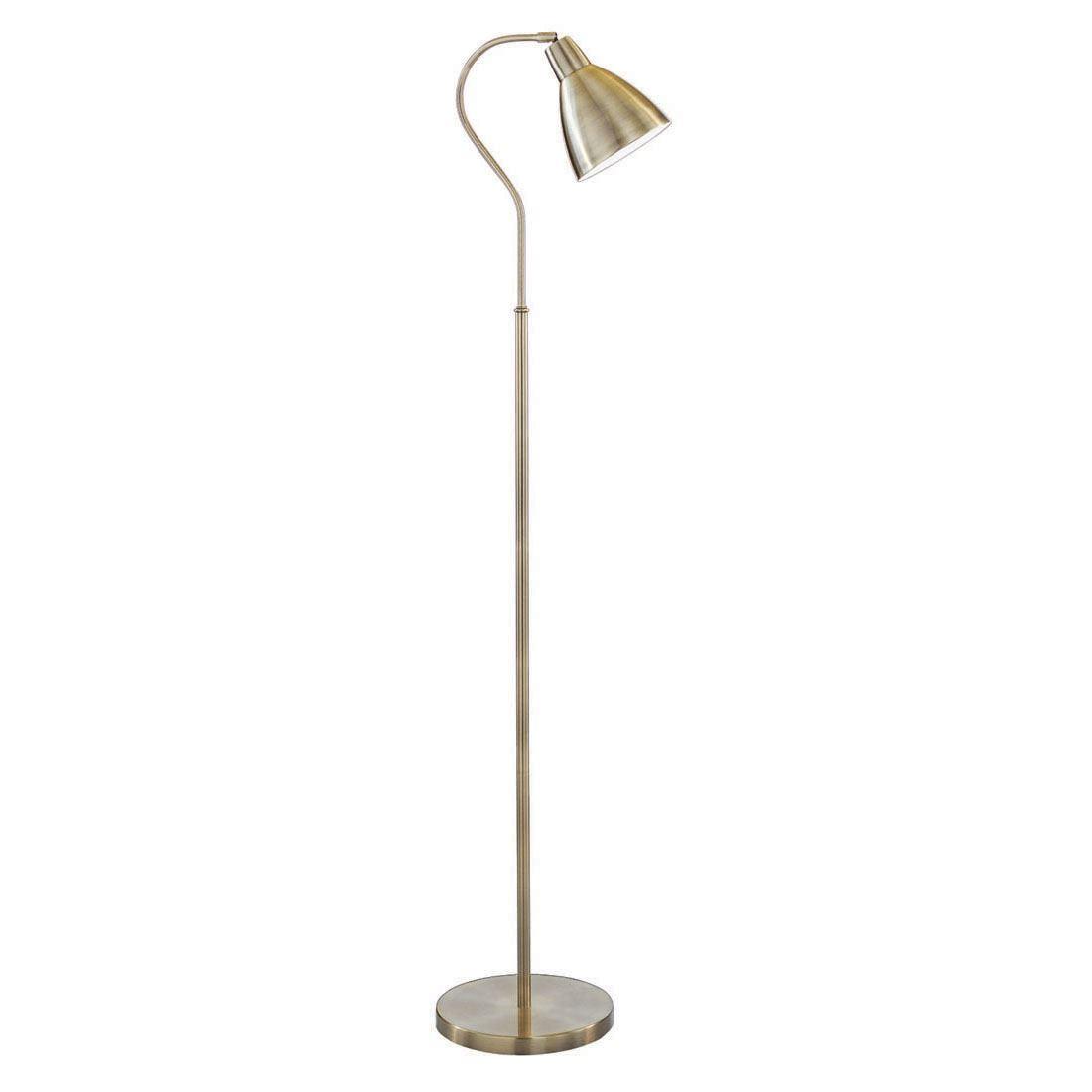 Adjustable Floor Lamp - Antique Brass