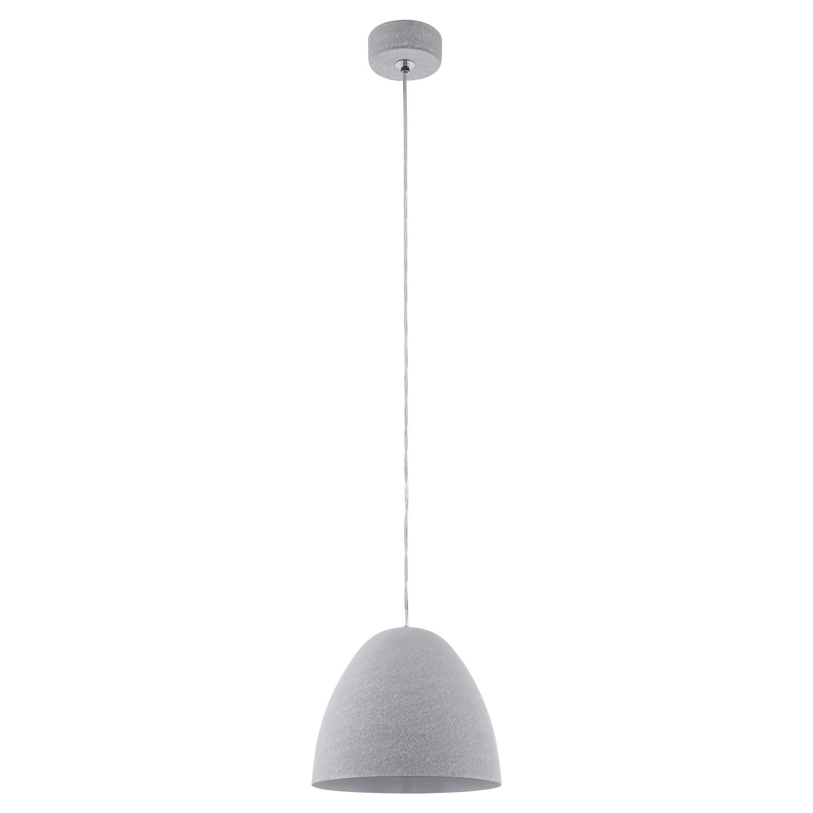 Sarabia Pendant Light E27 Dia 275mm Concrete Grey Optic Pendant Light