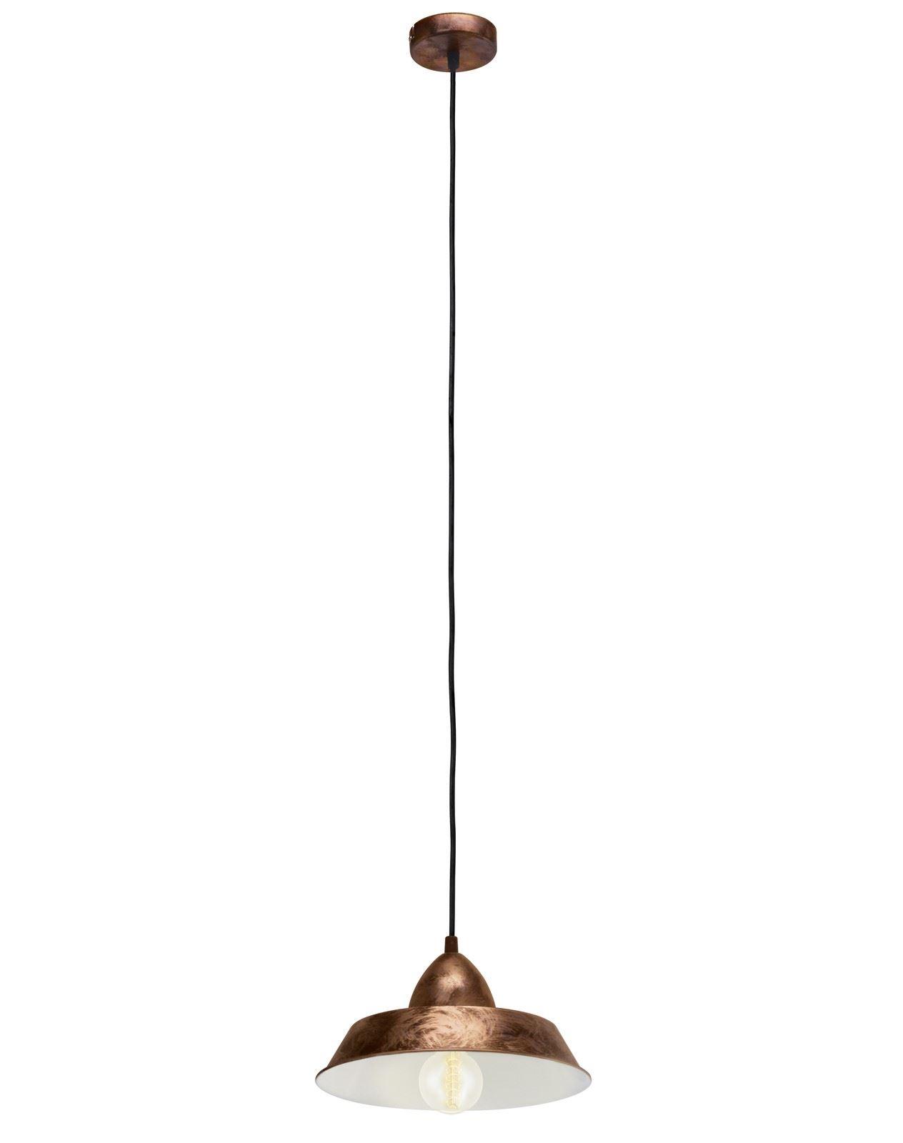 Auckland Hanging Pendant Light E27 Copper Antique
