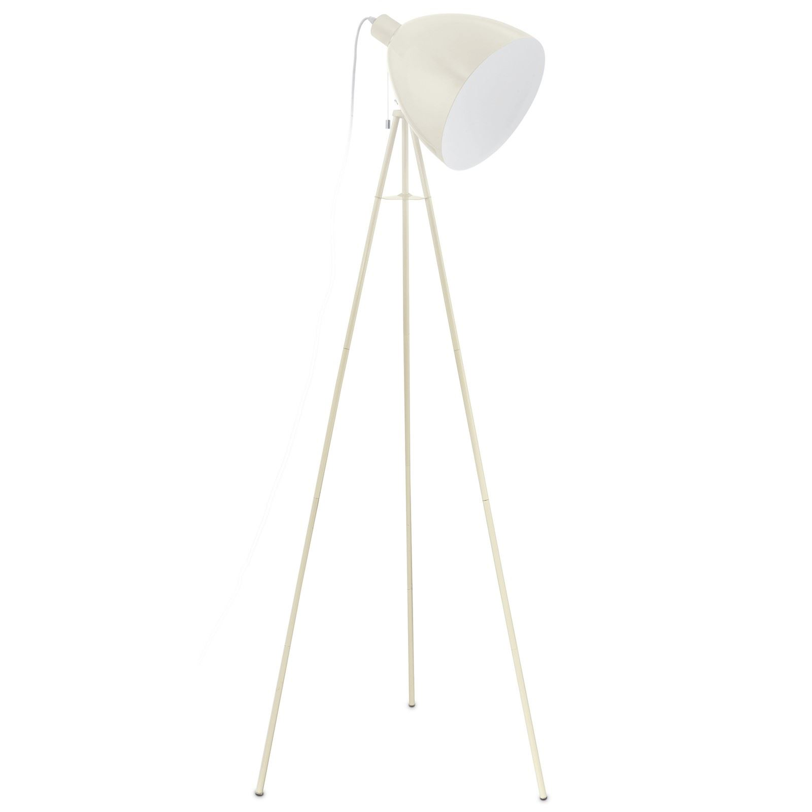 Dundee Stylish Steel Floor Lamp 1 Light E27 Sand Color Finish