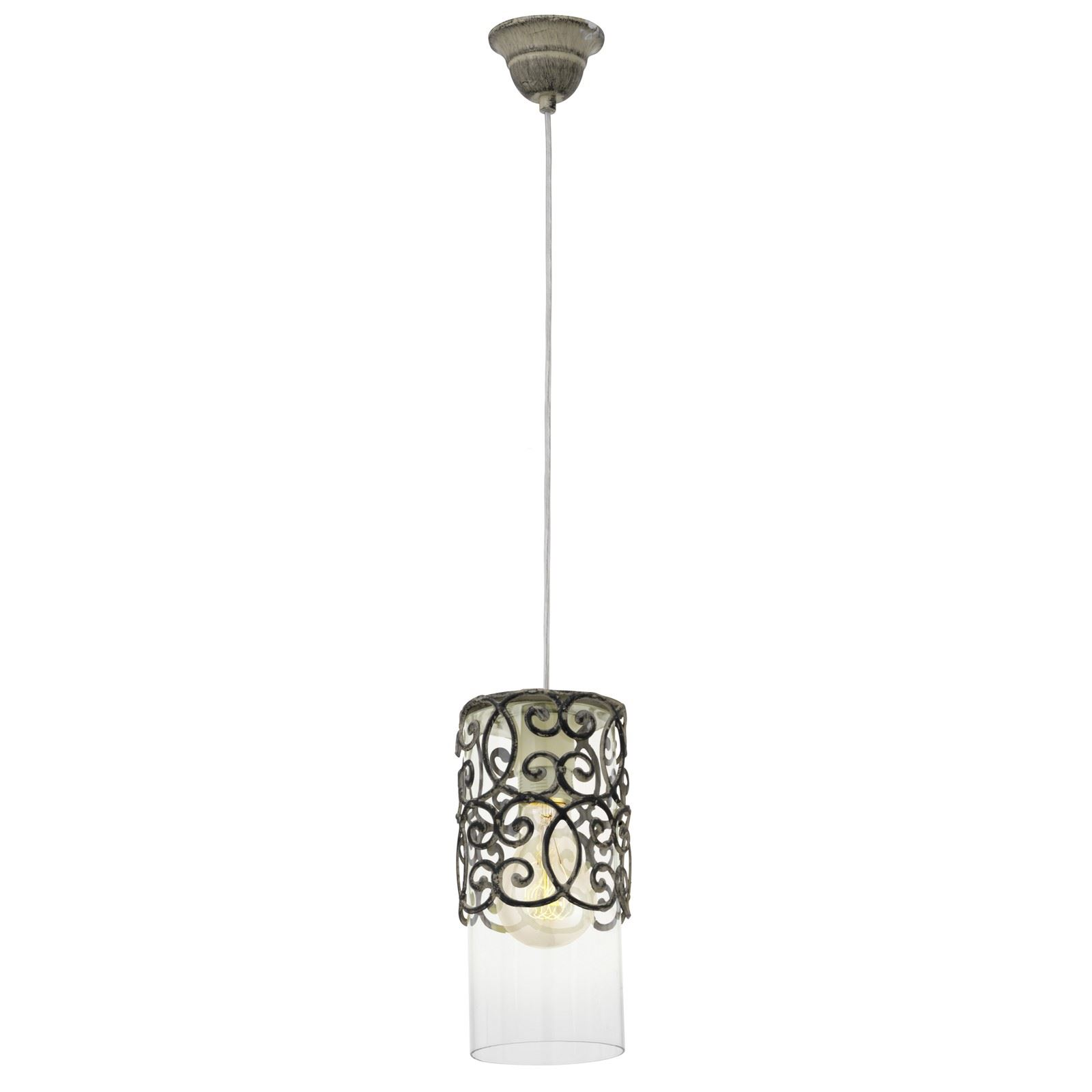 Cardigan Decorative Hanging Pendant Light 1 E27 Brown Patina