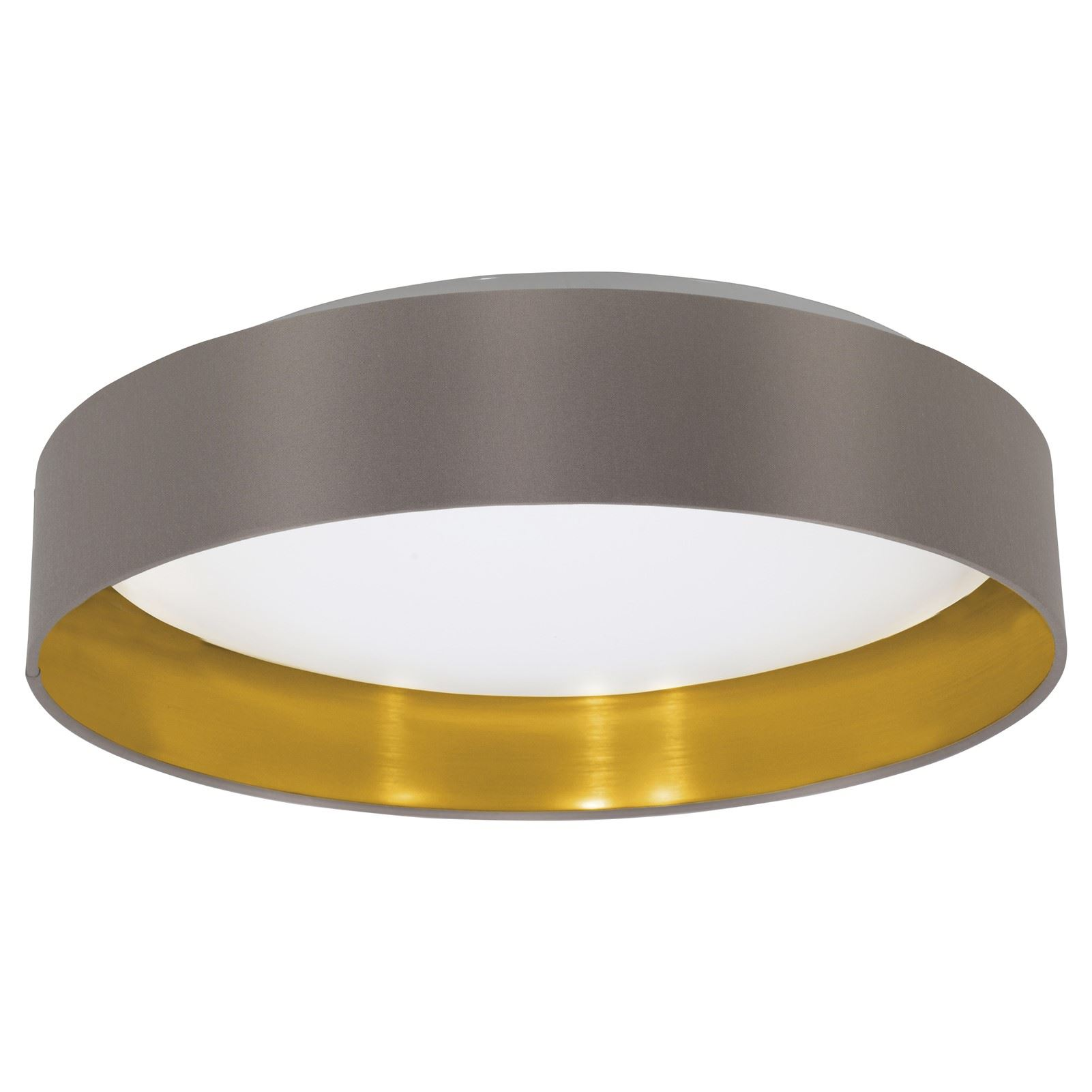 MASERLO LED Stylish Ceiling Light Plastic Steel Fabric Cappuccino Shade