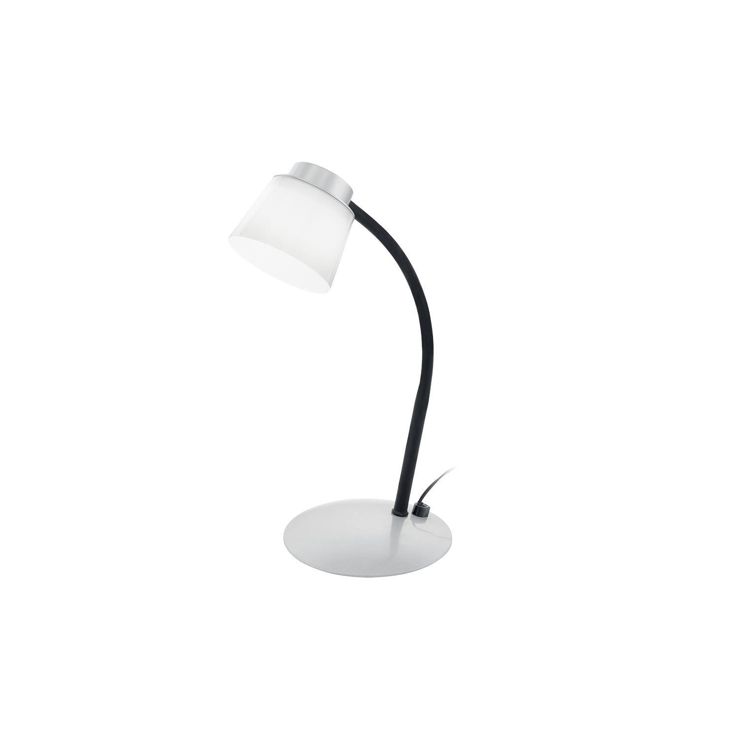 Torrina Led-Table Lamp Silver, Black White Color Touchdimmer